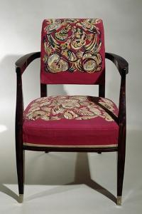 Art Deco Style Chair, Ca 1925 by Jacques-emile Ruhlmann