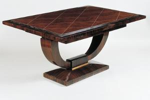 Art Deco Style Dining Room Table, Vuillerme Model, Ca 1925 by Jacques-emile Ruhlmann