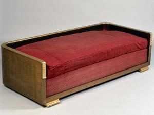 Art Deco-Style Sofa, Ducharnebronz Model, 1925 by Jacques-emile Ruhlmann