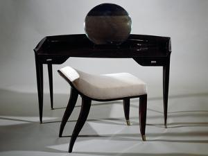 Dressing Table and Stool, Ca 1925 by Jacques-emile Ruhlmann