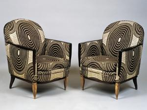Pair of Art Deco Style Armchairs, Ducharne Model, 1926 by Jacques-emile Ruhlmann