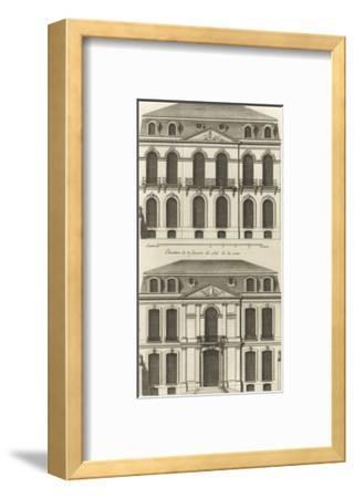 Planche 22 : Elévation de la façade de l'hôtel de Villeroy (ancien hôtel de Mlle Desmares)