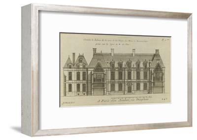Planche 246 (2) : Elévation de la façade côté cour l'hôtel de Bretonvilliers , construit par