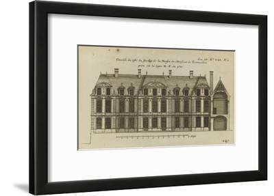 Planche 247 (1) : Elévation de la façade côté jardin l'hôtel de Bretonvilliers , construit par