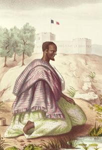 """A Senegalese Marabout, from """"Les Esquisses Senegalaises"""" by Abbe Boilat, 1853 by Jacques Francois Gauderique Llanta"""