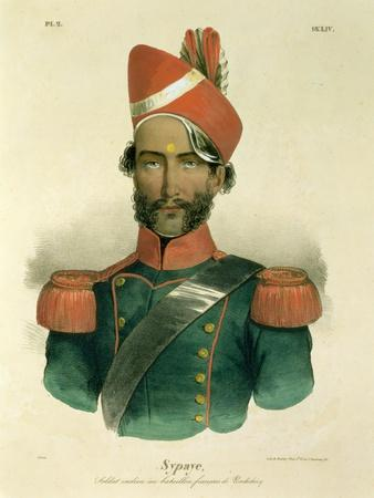 A Sepoy: an Indian Soldier in the French Battalion at Pondicherry