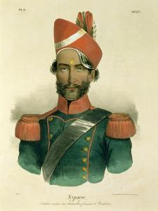 A Sepoy: an Indian Soldier in the French Battalion at Pondicherry by Jacques Francois Gauderique Llanta