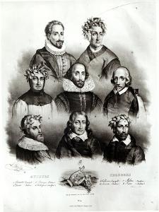 Famous Authors: Miguel de Cervantes by Jacques Francois Gauderique Llanta