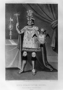 Inca Prince, National Costume, 1852 by Jacques Francois Gauderique Llanta