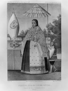 Inca Princess, National Costume, 1852 by Jacques Francois Gauderique Llanta
