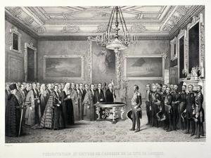 Lord Mayor, Sir William Magnay, Windsor Castle, Berkshire, 1844 by Jacques Francois Gauderique Llanta