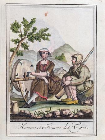 A Man and Woman from the Vosges, from the 'Encyclopedie Des Voyages', 1796