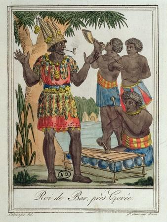 King of Bar, Near Gorée, Senegal, from Costumes De Différents Pays, 1796