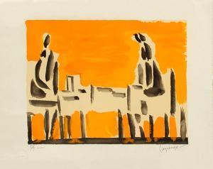 Deux personnages by Jacques Lagrange