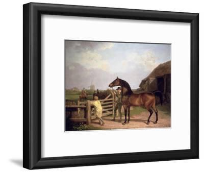 Bay Ascham', a Stallion Led Through a Gate to a Mare, 1804