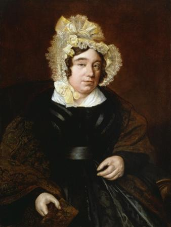 Portrait of Mrs. Edward Cross, Seated Half-Length in a Dark Satin Dress with a Paisley Shawl