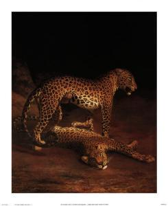 Two Leopards Playing in the Exeter Change Menagerie, c.1808 by Jacques-Laurent Agasse