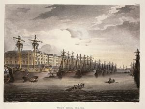 UK, London, Wharf at Westminister Bridge by Jacques-Laurent Agasse