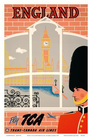 England - Queen's Guard, Big Ben, Parliament Building and the Thames River - Fly TCA