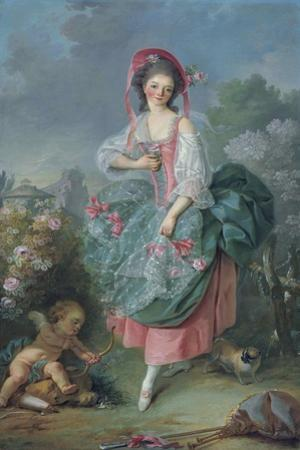 Ballerina Marie-Madeleine Guimard (1743-181) as Terpsichore