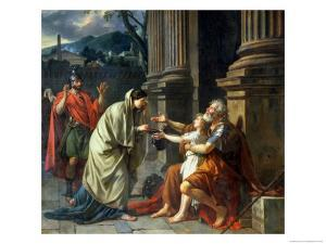 Belisarius Begging for Alms, 1781 by Jacques-Louis David
