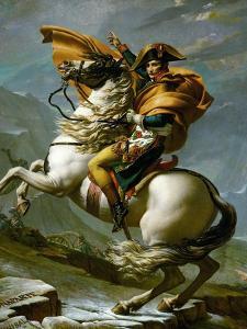 Bonaparte Crossing the Great Saint Bernard Pass, 1801 by Jacques-Louis David