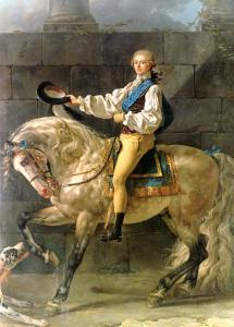 Equestrian Portrait of Stanislas Kostka Potocki 1781 by Jacques-Louis David