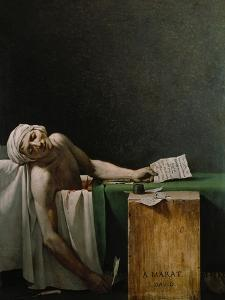 Jean Paul Marat, Politician, Dead in His Bathtub, Assassinated by Charlotte Corday, 1792 by Jacques-Louis David