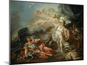 Le Combat de Minerve contre Mars by Jacques-Louis David