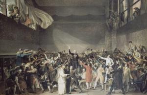 Le serment du jeu de Paume, le 20 juin 1789 by Jacques-Louis David