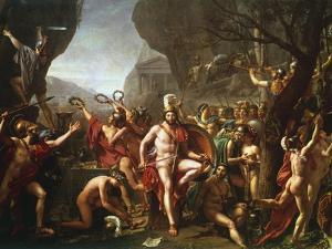 Leonidas at Thermopylae, 5th Century BC by Jacques-Louis David