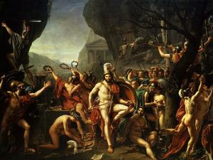 Léonidas Aux Thermopyles (Leonidas, King of Sparta, at Thermopylae) by Jacques-Louis David