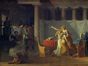 Lictors Bearing to Brutus the Bodies of His Sons, 1789 by Jacques Louis David