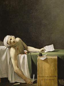Marat assassiné by Jacques-Louis David