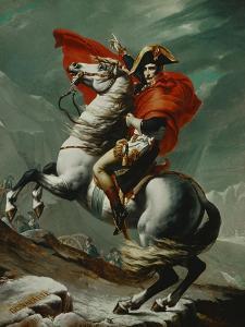 Napoleon (1769-1821) Crossing the Saint Bernhard Pass, 1801/2 by Jacques-Louis David