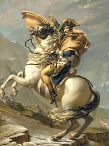 Napoleon Crossing the Alps at the St. Bernard Pass, 20th May 1800, circa 1800-01 by Jacques-Louis David