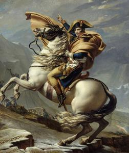 Napoleon Crossing the Alps at the St. Bernard Pass, May 20, 1800 by Jacques Louis David