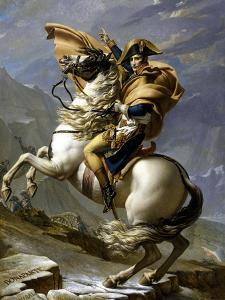 Napoleon Crossing the Alps, c.1800 by Jacques-Louis David