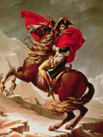 Napoleon Crossing the Alps, circa 1800 by Jacques-Louis David