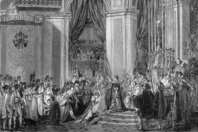 Napoleon Crowns Empress Josephine, Notre Dame, Paris, 2nd December 1804 (1882-188)