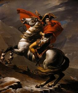 Napoleon on Horseback at the St. Bernard Pass by Jacques-Louis David