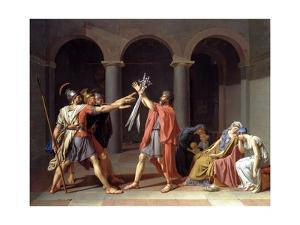 Oath of the Horatii by Jacques-Louis David