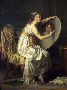 Portrait de mademoiselle Ducreux dit autrefois portrait de madame Vigée Lebrun by Jacques-Louis David