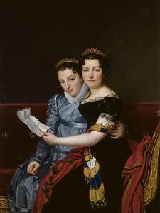 Portrait de Zénaïde et de Charlotte Bonaparte by Jacques-Louis David