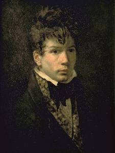 Portrait du peintre Jean Dominique Ingres, jeune by Jacques-Louis David