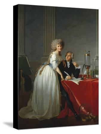 Portrait of French chemist Antoine Laurent Lavoisier with wife, 1788