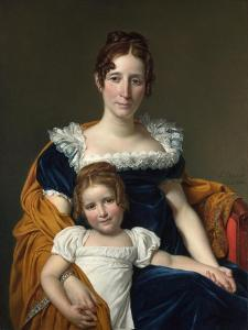 Portrait of the Comtesse Vilain XIIII and Her Daughter, 1816 by Jacques Louis David