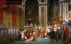 Sacre De Napoleon (Coronation) in Notre-Dame De Paris by Pope Pius VII, December 2, 1804 by Jacques-Louis David