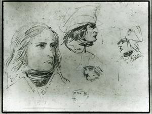 Sketches of Napoleon Bonaparte, 1797 by Jacques-Louis David