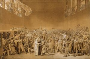 Study for the Tennis Court Oath, June 20, 1789 by Jacques Louis David